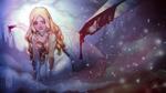 Обои Белокурая светловолосая плачущая девушка, by missVarlou
