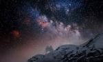 Обои Млечный путь на небе над горой, by Ricardo Zambrano