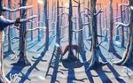 Обои Олень в зимнем лесу, by Zyane