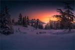 Обои Зимнее утро в Scheibelalm in Hohentauern / Шайбелламе в Хоэнтауэрне, фотограф Friedrich Beren