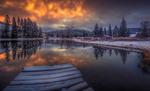Обои Зима на озере Хойзльтайх / Hаuslteich в Австрии, фотограф Friedrich Beren