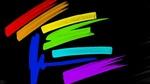 Обои Разноцветные полосы на черном фоне