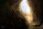 Обои Меч в камне в пещере