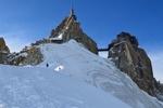 Обои Домик на вершине горы, мост между горами на фоне снега и неба, by JacLou DL