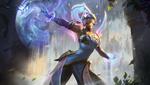 Обои Sun Goddess Karma / Богиня Солнца Карма из игры League of Legends / Лига Легенд, by clarewyc