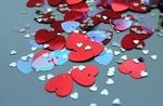 Обои Разноцветные сердечки, by Alicja