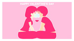 Обои Парень и девушка с масками на лице, (Happy Valentines Day / С Днем Святого Валентина), by Mikeinel