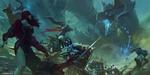 Обои Битва воинов и магов с драконом, by Bayard Wu