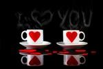 Обои Чашки с седечком на блюдце, (I love you / я люблю тебя), by Андрей Ридный
