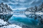 Обои Зима на озере Айбзее / Eibsee, Германия, by Arnd Kolleck