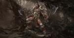 Обои Варвар, вызывающий на бой, из игры Diablo 2, by dongbiao lu