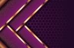 Обои Геометрическая фиолетовая абстракция