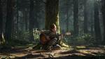Обои Ellie Williams / Элли Уилльямс с гитарой в лесу, арт к игре The Last of Us: Part II / Последние из нас: Часть 2