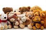 Обои Мягкие игрушки, медвежата, львенок, обезьянка, by Bruno