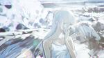 Обои Девушка-ангел курит на размытом фоне, by loundraw