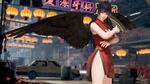 Обои Девушка-боец Kasumi / Касуми на улице ночного города, из игры Dead or Alive 6
