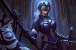 Обои Жанна дАрк / Joan of Arc / Jeanne dArc / Знаменосец / Рулер / Ruler из аниме и манги Судьба: Апокриф / Fate / Apocrypha, а также онлайн RPG игры Fate / Grand Order, by zelun jia
