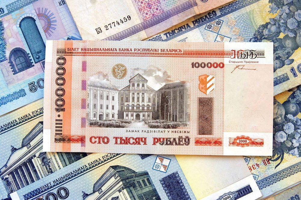 Обои для рабочего стола 100000 рублей, банкнота Беларусь