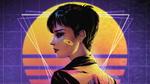 Обои Neon Huntress / Неоновая Охотница, by Sofia Sanz