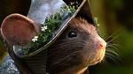Обои Крыса в рыцарском доспехе и с веткой цветка на шлеме, by Constantin Vilsmeier