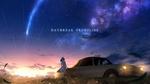 Обои Девушка стоит у авто на фоне облачного неба, by Daybreak Frontline