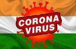 Обои Микроб коронавируса и надпись (coronavirus) на фоне флага Индии, by PANKAJ YADAV