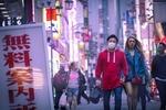 Обои Парень в медицинской маске и девушка идут по городу, by Uki Eiri