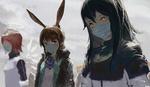 Обои Девушки из игры Arknights в масках на лице