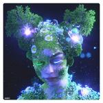 Обои Девушка с растительностью на теле и голове, работа Queen of the Oak / Друантия, Королева дуба, by Nick Sullo