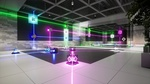 Обои Испытательная комната со стеклянными кубами, лежащими на полу и встроенными в стену из игры RETHINK 3 разработчика Yaeko