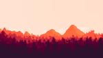 Обои Деревья и горы над небом, by ZorkzQC