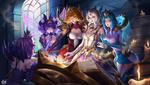 Обои Героини игры League of Legends / Лига Легенд занимаются магией, by Citemer Liu
