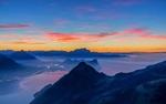 Обои Закат с вершины горы, фотограф Lukas Schlagenhauf