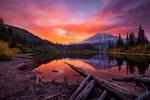 Обои Bench Lake, Mount Rainier National Park / Озеро в Национальном парке Маунт-Рейнир, by Doug Shearer
