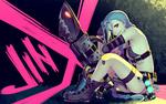 Обои Jinx / Джинкс из игры League of Legends / Лига Легенд, by Mowblack
