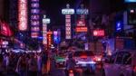 Обои Огни ночного города чайна-таун Bangkok, Thailand / Бангкок, Таиланд