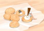 Обои Пингвинчик на печенье
