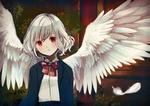 Обои Белокурая девушка с ангельскими крыльями
