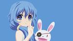 Обои Yoshino / Йошино с кроликом из аниме Date A Live / Рандеву с жизнью, by MrRikkert