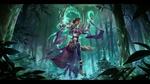 Обои Персонаж из игры Legends of Runeterra / Легенды Рунетерры парит в воздухе