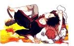 Обои Хозуки / Hoozuki отдыхает, лежа на спине, из аниме Хладнокровный Хозуки / Hoozuki no Reitetsu
