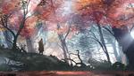 Обои Самурай Sekiro / Секиро / Одинокий Волк из игры Sekiro: Shadows Die Twice / Тени умирают дважды, by TacoSauceNinja