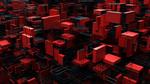 Обои Абстракция, красные и черные фигуры, автор Arne Fjord Rasmussen