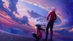 Обои Рин Тосака / Tohsaka Rin и Emiya Shirou / Эмия Широ из аниме Судьба / Ночь схватки / Fate / stay night
