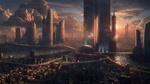 Обои Фантастический город на закате, автор fares Meziani