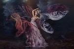 Обои Прекрасная девушка в платье с коралловыми оттенками, by Ruth Chornolutskyy (RR Photographic)