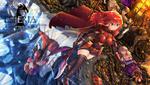 Обои Девушка у воды, рядом стоят парни, лежит девушка, by chinchongcha