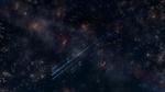 Обои Две рыбки плавают в воде, в которой отражается ночное небо, by Y_Y
