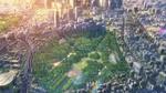 Обои Вид города с высоты птичьего полета из аниме Сад изящных слов / Kotonoha no Niwa, аниматор Макото Синкай