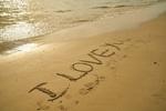 Обои Надпись на песке I love you / я люблю тебя, by Engin Akyurt